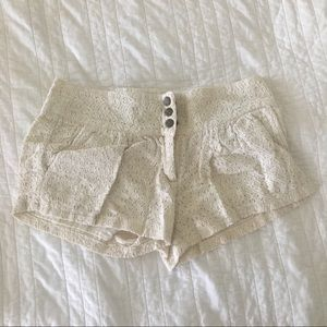 just ginger Bottoms - White Lace Shorts